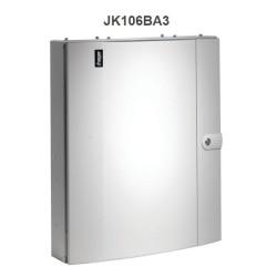 Hager Invicta JK106BA3 125A 6 Way TPN Distribution Board Amendment 3 with Plain Door Type B