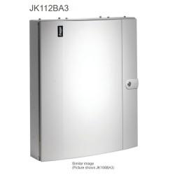 125A 12 Way TPN Distribution Board Plain Door Amendment 3 Type B, Hager Invicta JK112BA3
