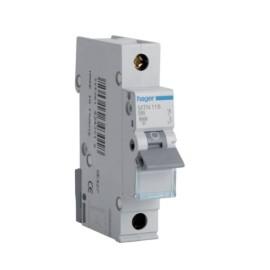 Hager MTN116 16A 1 Pole Type B 6kA Miniature Circuit Breaker, Single Pole MCB