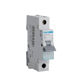 Hager MTN120 20A 1 Pole Type B 6kA Miniature Circuit Breaker, Single Pole MCB