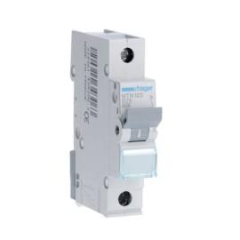 Hager MTN125 25A 1 Pole Type B 6kA Miniature Circuit Breaker, Single Pole MCB