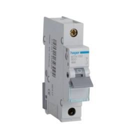 Hager MTN150 50A 1 Pole Type B 6kA Miniature Circuit Breaker, Single Pole MCB