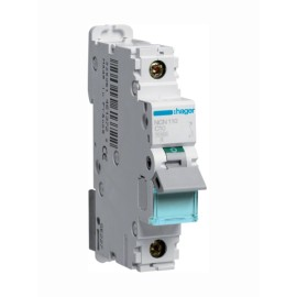 Hager NCN110 10A Type C Single Pole MCB 10kA Mini Circuit Breaker 1P C-10A 1M