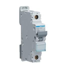 Hager NCN116 16A Type C Single Pole MCB 10kA Mini Circuit Breaker 1P C-16A 1M