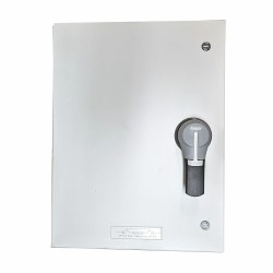 Hager JFG320U 200A TP+N Metal Fused Switch, Surface Mounted Enclosed Fuse Combination Switch TPN 200A