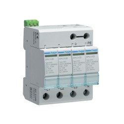 Hager SPD 4 Pole Pluggable 15kA Class 2 with End of Life Indicator SPN415D, Amendment 3 18th Edition