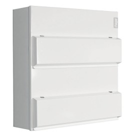 Hager Dual Row 20+20 Way Amendment 3 Metal Consumer Unit 100A Switch Disconnector Incomer with Knockouts