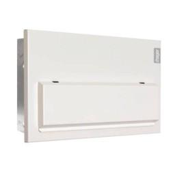 Hager Flush 14 Way Consumer Unit 100A Mains Switch Disconnector Incomer Design10 Amendment 3