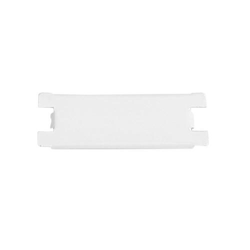 White Metal Consumer Unit Blank, 1 Module Metal Clad Blank for Metal Consumer Units