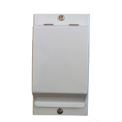 2 Module Metal Enclosure IP20 rated 145 x 80 x 62mm with Lid for Circuit Protection