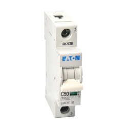 Memshield3 50A 1 Module Type C MCB 10kA Single Pole, 50A Miniature Circuit Breaker
