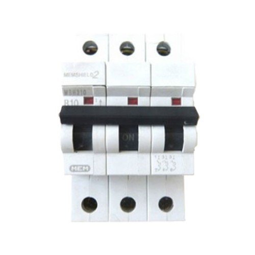 MEM Memshield2 MBH310 10A Triple Pole MCB Type B 10kA Miniature Circuit Breaker