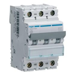 Hager NCN350A 50A 10kA Type C Triple Pole MCB Mini Circuit Breaker
