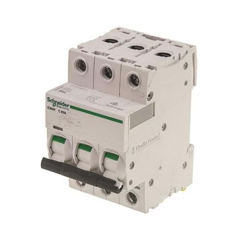 Schneider Acti 9 iC60H 3P 63A Curve C Miniature Circuit breaker 10 kA Type C MCB 3 Module