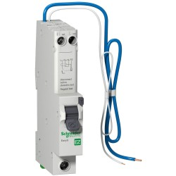 Schneider EZ9D16810 Easy9 10A RCD 1 Pole + Neutral 6kA 30mA type B RCBO with Overcurrent Protection