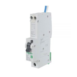 Schneider EZ9D16832 Easy9 32A RCD 1 Pole + Neutral 6kA 30mA type B RCBO with Overcurrent Protection