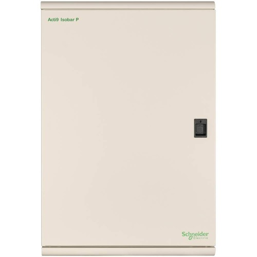 Schneider 8 Way 250A TP+N Distribution Board for Surface Mounting, IP3x IK05 Schneider SEA9BPN8 Acti 9 Isobar P B Metalclad (no incomer)