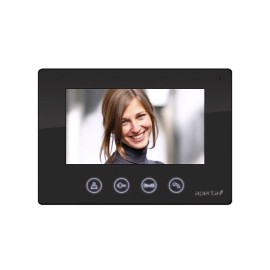 Aperta 7 inch Colour Video Door Entry Monitor in Black with Clear High Resolution Picture ESP APMONB