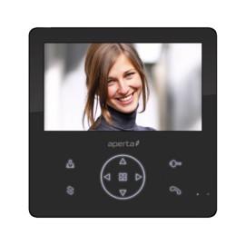 Aperta 7 inch Colour Video Door Entry Monitor with Recording Facility in Black, ESP Aperta APMONBG