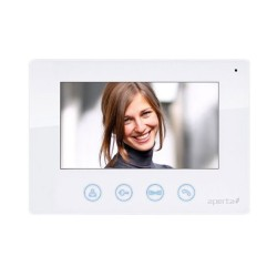 Aperta 7 inch Colour Video Door Entry Monitor in White with Clear High Resolution Picture ESP APMONW