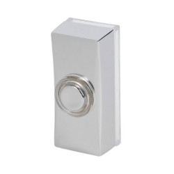 Wired Bell Push in Chrome, Traditional Surface Mounted Bellpush