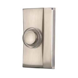 Byron 7960 Traditional Bell Push in Brushed Nickel, 1A Wired Bell Push Surface Mounted
