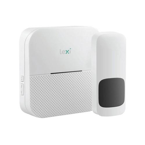 Wireless Battery Doorbell: IP55 Waterproof Transmitter + 1 Receiver, up to 300m Range, 52 Melodies Lexi 44003PI
