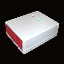 White Intruder Alarm Panic Button with Key PA and Distress Button Honeywell KP1