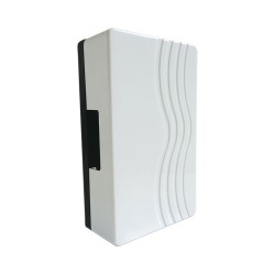 White Door Chime with Built-in Transformer, Modern Design Chime for Install up to 15m range
