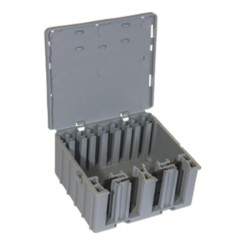 Wagobox XL Single in Grey 115mm x 126mm x 55mm for 0.14mm2 - 4mm2 Cables, rated to 450V