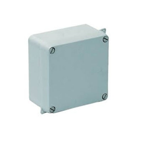 IP65 rated 110mm x 110mm x 60mm Moulded Grey Enclosure, Weatherproof Sealed Adaptable Box