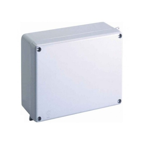 IP65 rated 160mm x 120mm x 70mm Moulded Grey Enclosure, Weatherproof Sealed Adaptable Box