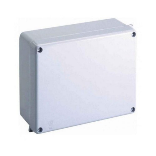 IP65 320 x 250 x 135mm Moulded Grey Sealed Adaptable Box, Weatherproof Enclosure with Lid