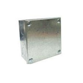 """Adaptable Box 75mm x 75mm x 38mm Galvanised Steel Knockout Adaptable Box, 3"""" x 3"""" x 1.5"""""""