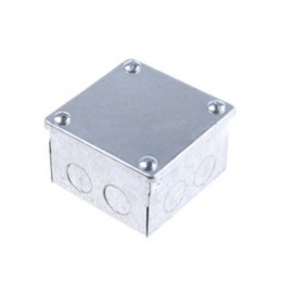 Adaptable Box 75mm x 75mm x 50mm Steel Galvanised with 10 Knockouts