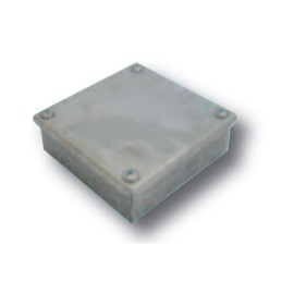 """Adaptable Box with Knockouts 100 x 100 x 38mm, Galvanised Adaptable KO Box 4"""" x 4"""" x 11/2"""""""