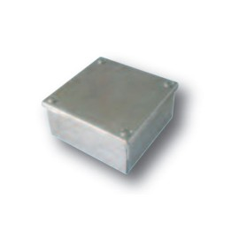 """Adaptable Box with Knockouts 100 x 100 x 50mm, Galvanised Adaptable KO Box 4"""" x 4"""" x 2"""""""