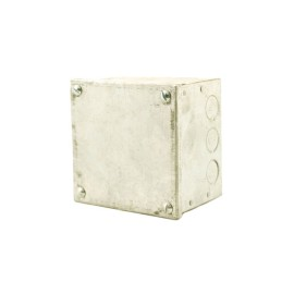 """Adaptable Box with Knockouts 100 x 100 x 75mm, Galvanised Adaptable KO Box 4"""" x 4"""" x 3"""""""