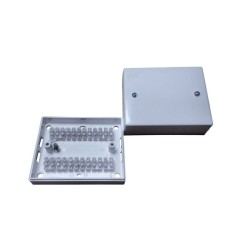 24 Way Mounting Junction Box in White 48mm height x 100mm width