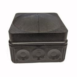 IP66 Wiska Black Combi Box 76mm x 76mm x 51mm, Outdoor Black Junction Box