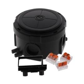 Wiska COMBI304-221 Junction Box 82mm x 82mm x 57mm in Black, Empty Junction Box IP66 / IP67 Polypropylene Black
