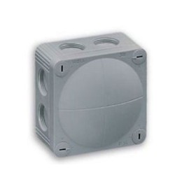 IP66 rated Grey Junction Box, 85 x 85 x 51mm Combi Enclosure 400V rating