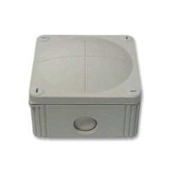 IP66 rated Grey Junction Box, 110 x 110 x 66mm Combi Enclosure with Threaded Entry