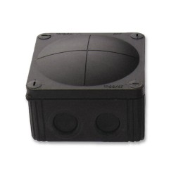 IP66 rated Black Junction Box, 110 x 110 x 66mm Combi Enclosure with Threaded Entry