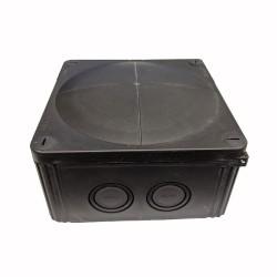 IP66 Black Wiska COMBI Box 140mm x 140mm x 82mm, Waterproof Black Junction Box