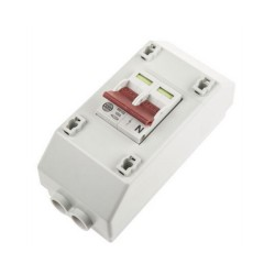 Wylex 100A 2 Way Isolator Switch, 100A NH Double Pole Slimline and Mains Switch Enclosure