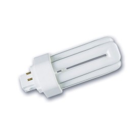 26W Triple Turn Cool White 4000K Fluorescent Lamp GX24q-3, Frosted Dimmable Lamp