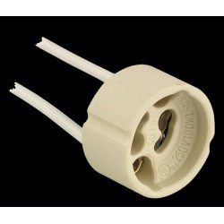 GU10 Lampholder with 21cm White Tails for use with Fire Rated Downlights