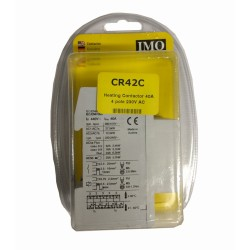 AC1 40A Heating Contactor 4 Pole N/O Contacts, 220-240V AC 50Hz Coil Contactor, IMO PC CR42C