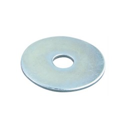 Steel Penny Washer 30mm x 6.4mm hole, M6 Penny Washers BZP
